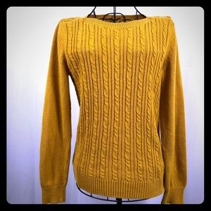 Banana Republic gold pullover sweater S